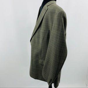 Joseph Abboud Suits & Blazers - Joseph Abboud Black & Tan Wool Sport Coat Blazer